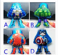 party happy birthday - avengers balloon happy birthday decoration captain Amercian batman Hulk Iron man helium globos foil Balloons Party Decoration Supplies