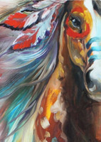 art for life - The Warhorse of indian hand painted abstract horse canvas art oil painting india adornment horse picture for living room decoration