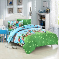 kids cartoon bedding set - HOT ITEM Drop Ship In Stock Minecraft Bedding Set Kids Bedding Set Duvet Cover Flat Sheet Pillow Case USA UK AU Size