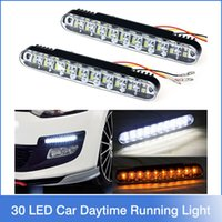 Wholesale Hot x LED Car Daytime Running Light DRL Daylight Lamp with Turn Lights
