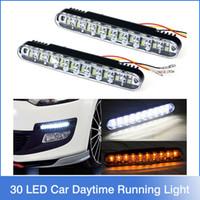 car lights - Hot x LED Car Daytime Running Light DRL Daylight Lamp with Turn Lights