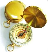 mini compass - Portable Mini Classic Pocket Watch Style Bronzing Antique Compass for KeyChain Camping Hiking Outdoor Sports Noctilucent compass by DHL