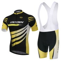 Wholesale 2015 XINTOWN Yellow wind bike jersey Cycling clothing Bicycle Shirt bib Shorts cycling pants ropa de ciclismo Set Suit