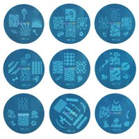 Wholesale Kond Design Stamping Bule m Series Image Plate Mix Design cm Stamping Nail Art Plate Designs Template DHl