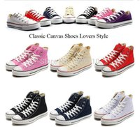 MEN SNEAKER - 2015 hot sell all colors canvas shoes low high classic star Canvas Shoes Lace up women men Sneakers lovers shoes up shoes