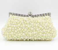 Wholesale 2015 new Bridal Hand Bags Wedding Accessories pearls Floral Party Prom Hand bags Bridal Hand Bags
