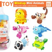 Wholesale set Wind up Cute Animal Octopus Dog Fish Crab Toy Set Baby crawl Educational Wind up Toys Children Gifts