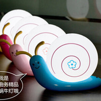 baby snail - Snail charge small table lamp led energy saving night light wall bedside desk baby sleeping lamp