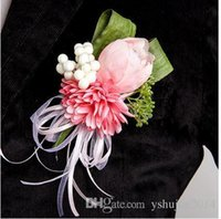 Wholesale Handmade Bridal Corsages Simulation tulips theme wedding bride groom Corsages Wedding corsage parents Brooch