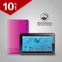 focus bluetooth gps - 9 inch tablet hot sale A33 quadcore wifi tablet GB GB storage in android MP Auto focus camera including case keyboard