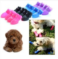big cats pets - Non slip Colorful Dog Pet Boots Rubber Water Protective Pet Shoes Booties Waterproof Rain cat dog big Pet shoes waterproof Sets