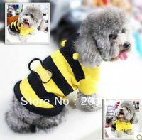 bee costume accessories - dogs pets clothing Fleece Bumble Bee Dog Cat Pet Costume Apparel Coat