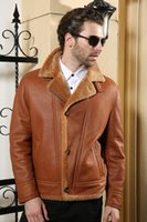 advance jacket - Fall Australia imports leather jacket Sheepskin Fur Winter leather jacket men Leather clothing Advanced Warm wool coat leather jacket