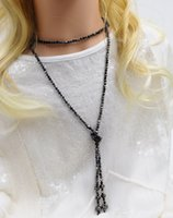 Wholesale Girl Women Necklace Crystal Cross Knotted Sweat Necklace High Quality Fashion Chain Accessories Jewellery for
