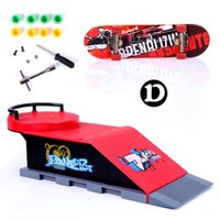 Wholesale Skate Park Ramp Parts for Tech Deck Fingerboard Finger Board D