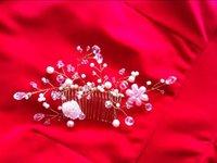antique hair brush - 2016 New Handmade Bridal Hair Comb Fashion Bridal Wedding Tiaras Stunning Fine Comb Bridal Jewelry Accessories Crystal Pearl Hair Brush