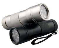 Cheap UV Light Ultra Violet UV 12 LED Flashlight Torch Free Shipping 500pcs