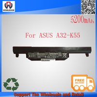 Wholesale V mAh Wh Laptop Battery For ASUS A32 K55 A33 K55 A41 K55 A45VD A45VM K45DR K45VD New original