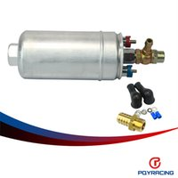 Wholesale PQY STORE External Fuel Pump FUEL PUMP WITH BANJO FITTING KIT HOSE ADAPTOR UNION MM OUTLET TAIL PQY FPB044R