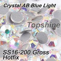best gross - Machine Cut Best Quality Gross SS16 Crystal AB DMC Hotfix Rhinestones For Garment