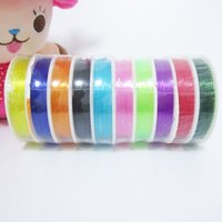 assorted elastic cord - 0 mm mm mm Assorted Color Strong Stretch String Elastic Cord Wire Thread Beading Wire For Beads Bracelet DIY