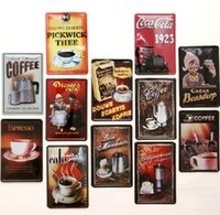 metal art - 2014 cm coffee cafe cappuccino Tin Sign Coffee Shop Bar Restaurant Wall Art decoration Bar Metal Paintings