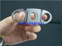 stainless steel pocket knives - Pocket Stainless Steel Cigar Cutter Knife Double Blades New Good quality Low Price