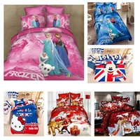 king size bed set - Pink Bed set CHILDREN CARTOON BEDDING SETS ELISA AND ANNA DESIGNS VERY HOT SALE Single Queen king Twin size AA