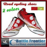 cycling shoes - SIDEBIKE Men s Carbon Road Cycling Shoes Sports Riding Bike Bicycle Sneaker Highway Lock Shoes Athletic Breathable Shoes Green Red US7