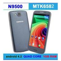 nuovo schermo stella n9500 2014 di trasporto 1280 x 720 MTK6582 Quad Core Smart Phone 1.2Ghz 1GB di RAM Android 4.2 della stella N9500 i9500