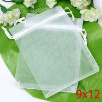Wholesale 2015 Time limited Sale Bolsas De Papel Plastic Shopping Bags Paper Bag White Bronzing Drawable Organza Wedding Gift Bags pouches x9cm