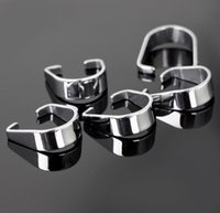 Wholesale Strong L Silver Stainless Steel Pendant Pinch Clip Clasp amp Hooks Bail Connector DIY jewelry finding