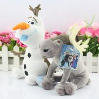 Wholesale Frozen Olaf Sven Plush Toy Snowman Milu Deer Kristoff Friend Sven Cartoon Movie Plush Toy Stuffed Doll For Kids Gift llot DHL Free