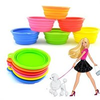 Wholesale Dog Cat Pet Portable Silicone Collapsible Travel Feeding Bowl Water Dish Portable dog bowl drinkers