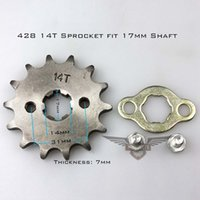 Wholesale Brand New Chinese Motorcycle ATV Dirtbike Front Sprocket T mm Size Teeth