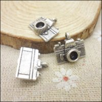 antique motor - 50 Vintage Charms Camera Pendant Antique silver Fit Bracelets Necklace DIY Metal Jewelry Making jewelry motor