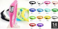 Nouveau sport anion Silicone watch men women fashion imperméable led digital watch 14color pour choix 500pcs / lot supply