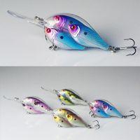 Cheap Crank Fishing Lure Shad Live Fish Bait Ball Threadfin Bass Fishing 3D Multiple Flash Profiles 6.5CM 18G 4pcs Lot