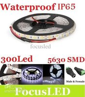 Wholesale CE ROHS UL Cool White Waterproof IP65 Led Light Strip SMD M Leds DC V Free Female and Male