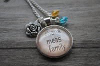 american meaning - 12pcs Ohana Means Family necklace Lilo Stitch quot Silver colored crystals for women or girls1111