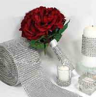 yard decorations for christmas - New Wedding Gift DIY Craft Accessories Rows Diamond Mesh Wrap Sparkle Rhinestones Crystal Ribbon Yards Roll For Party Decoration