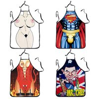 Wholesale 65 styles giant apron superman Hero Anime Cartoon Character Series Kitchen Apron Funny Personality Cooking Apron Gift A100