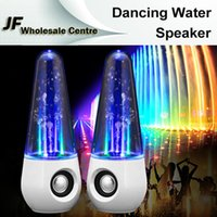 2 Universal Computer Fashion Dancing Water Speakers Colorful Fountain LED Light Creative Music Player Subwoofers USB Portable Speakers for Computer Laptop PC