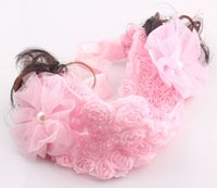 Wholesale Child baby lace flower headband hair accessory children hair bands infant accessories headband ZH119