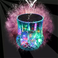 Wholesale 2016 Colorful Led Cup Wine Flashing Shot Glass Led Plastic Luminous Cup Neon Cup Birthday Party Bar Wedding Beverage Wine Flash Small Cup