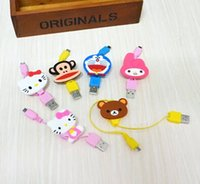 Wholesale Kawaii Cartoon Rilakkuma Melody Hello Kitty USB Data Line Charging Cable for Samsung Xiaomi xx1 KCS