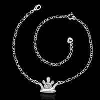 Wholesale Foot Jewelry Silver Hamsa Anklets for Girlfriend Silver Women Sexy Body Jewelry Leg Bracelet Sterling Silver Korean Anklet