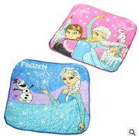 Wholesale Hot Frozen Elsa Princess Olaf Cartoon Face Towel cm Blue Children Party Gift Frozen Handkerchief Frozen Towel frozen Baby bib