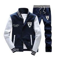 Wholesale Mens Fashion Sportswear Autumn Sport Suit Men Clothes Track suits tracksuits Male Leisure Sweatshirts for Man Hoodies Plus Size