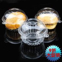 hat boxes - Individual With Hat Plastic Disposable Cake Container Cupcakes Packaging Box boxes cm